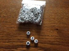 Acrylic  alphabet  spacer beads approx 6mm  x100