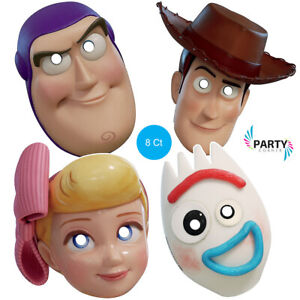 Toy Story Birthday Party Supplies PARTY MASKS Pack Of 8