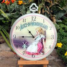 Alice nel paese delle meraviglie orologio, ragazze camera da letto orologio da parete, Alice Orologio, Orologio da Parete Rosa