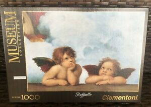 Clementoni Gemaldegalerie Museum Collection Raffaello 1000 Piece Puzzle EUC