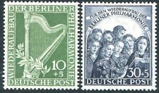 GERMANY (BERLIN)-1950 Philharmonic Orchestra Sg 1372-1373  LIGHTLY MOUNTED MINT