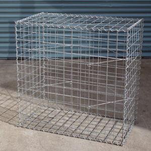 Gabion Cage 975mm L x 525mm W x 975mm H, 75x75mm, AL-TEN Garden Bench, Edge