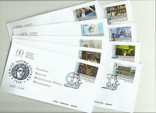 Greece 2018 - National Research Foundation - 9 Fdc's with self adhesive stamps