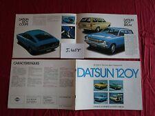 J.4055  / DATSUN 120 Y toutes versions catalogue en français 1973