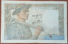 Billet 10 francs MINEUR 26 - 4 - 1945 FRANCE X.104
