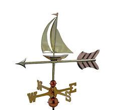 Sail Boat Copper Weathervane