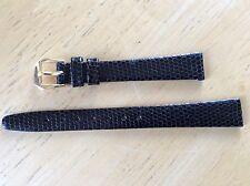 NEW KREISLER WATCH BAND BRACELET - Lizard Grain Leather 13mm 232101-13 Black