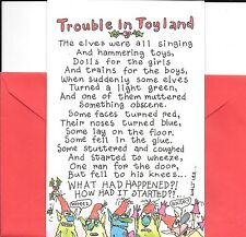 Funny Christmas Santa Farts Trouble In Toyland Elves Card By American Greetings