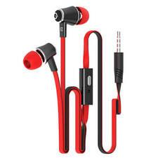 In Ear Headphones Earphones 3.5mm Metal Deep Bass For Samsung LG Andriod/ios Red