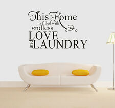 Wall stickers home endless love laundry quote Removable Art Vinyl Decor Home Kid