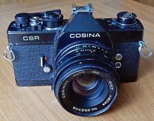 COSINA CSR 35mm SLR CAMERA S/N 7832604 50mm f1.7 PRIME LENS  S/N 852309