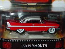 Hot Wheels 1958 PLYMOUTH FURY CHRISTINE REAL RIDERS MOVIE CAR -Red, NIP