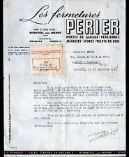 """BONNEUIL-sur-MARNE (94) FERMETURES / PORTES STORES VOLETS """"Ets PERRIER"""" en 1950"""