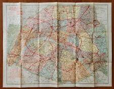 Paris METROPOLITAN Subway Map c.1920 * 9 Line Construction