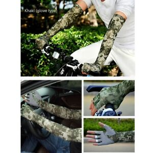 Cycling UV Sun Protection Cuff Cover Gloves Arm Sleeve Sport Arm Warmer Sleeves