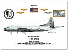 P-3C Orion of the VP-24 Batmen US Navy Aircraft Profile Data Print