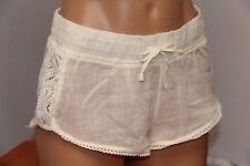 NWT Roxy Swimsuit Bikini swimwear Shorts cover up Sz S Soft Crochet Side WBS0
