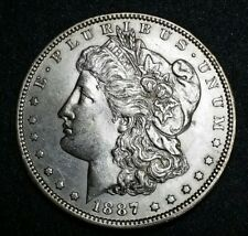 1887-O ☆ USA☆ Morgan Silver Dollar Choice Brilliant White, Lustrous