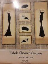 NEW Emily Adams Fashion Fabric Shower Curtain