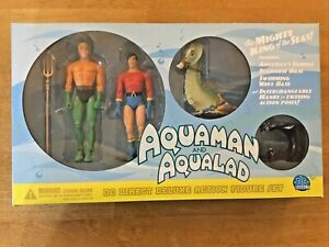 DC Direct Silver Age Aquaman and Aqualad Deluxe Action Figure Set w/Seahorse