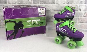 SFR Vision GT Quad Roller Skates Size UK 11J  Purple Green