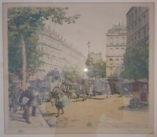 ANTIQUE 1908 LES GRAND BOULEVARD PARIS CZECH TAVIK FRANKISTEN SIMON FINE ETCHING