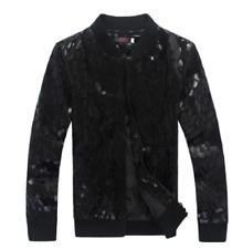 Men Korean Fashion Sequins Coat Jacket Spring Leopard Pattern Leisure Outwear B8