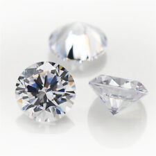 2 x CUBIC ZIRCONIA LOOSE STONES - ROUND STAR CUT 5A WHITE CLEAR - 5mm - 11mm