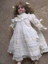 "13"" antique bisque head doll Floradora, AM, Germany"