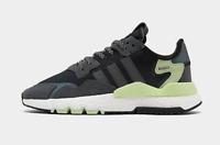 Men's adidas Originals Nite Jogger Casual Shoes Black/ Green NEW $130