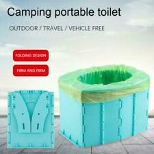 Tragbare Reise Toilette Klappkommode Toilettensitz für Camping Wandern New DE