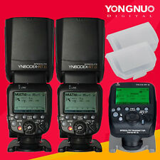 Yongnuo 2PC YN600EX-RT II Wireless Speedlite &YN-E3-RT II Transmitter for Canon