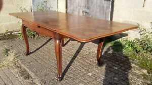 Vintage French Oak Extending Versailles Table with Diamond Patterned Top