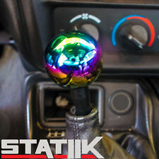 NEO CHROME 2 INCH ROUND GUMBALL SHIFT KNOB 10X1.25 FOR MAZDA 3 MIATA MX5 AXELA