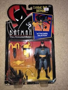 BATMAN: THE ANIMATED SERIES BATMAN WITH COMBAT BELT ACTION FIGURE BY KENNER 1992