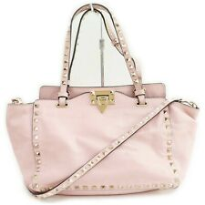 VALENTINO GARAVANI Tote Bag  Pinks Leather 1403207