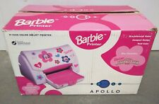 New Barbie Apollo P-1220 Inkjet Printer w/ Magic Hair Styler HP RARE Retro