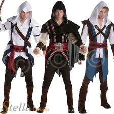 Mens Official Assassins Creed Costume Video Game Halloween Fancy Dress Outfit