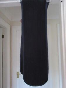 Men's blue scarf with blue tone trim.  24cm wide x 145cm long