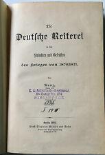 Die Deutsche Reiterei in Schlachten  Gefechten des Krieges 1870/ 71 Kunz 1895