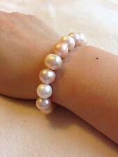 Gunuine Fresh Water Pearl Bracelet 11-12mm Multi Colour