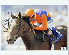 DAVID FLORES Signed 8x10 Photo Aboard ACTION THIS DAY Breeders Cup Jockey GAI