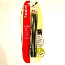 Stabilo Bleistifte GREENgraph - 3 Bleistifte auf Holz, Härtegrad HP = 2 1/2 - Ne