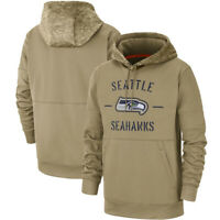 NFL Seattle Seahawks Football Hoodies 2019 Salute to Service Sideline Pullover