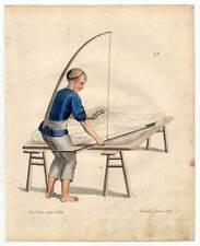 China-Chinesen-Baumwolle-Textilien-Wolle Kupferstich Dadley 1800 Ethnologie