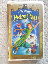 Walt Disney's Peter Pan (1998) Masterpiece 45th Anniversary Limited Ed VHS Movie