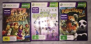 xbox 360 kinect games X 3