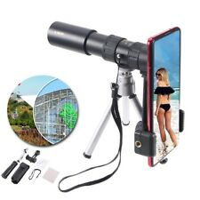 4K 10-300X40mm Super Telephoto Lens Zoom Monocular Telescope Portable Telescopic
