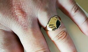 Vintage gold signet ring, fully hallmarked 9ct gold, Free Insured P&P #Mm