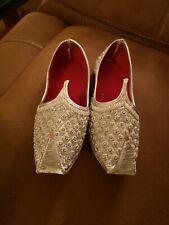 Silver Beaded, Fancy Dress, Genie Shoes. Size 3